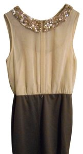 As U Wish short dress Cream/Purple with Gold sequine collar on Tradesy