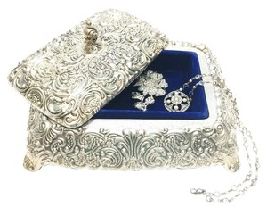 Silver-plated Vintage Jewelry Box by David Orgell [ Roxanne Anjou Closet ]