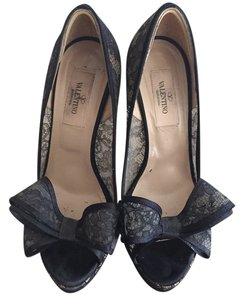 Valentino Black lace Platforms