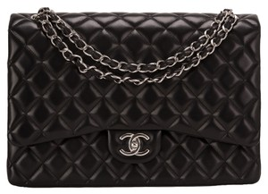 89d67c3647b1 Added to Shopping Bag. Chanel Maxi Shoulder Bag. Chanel Classic Flap  Quilted Maxi Classic Double Black Lambskin Leather ...