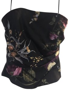 Kay Unger Bustier Gala Event Top Black floral multi