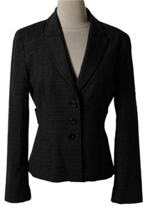 Elie Tahari Elie Tahari Charcoal and Black Jacket Blazer E091X114