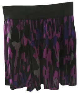 Forever 21 Skirt Multi; black puple and grey