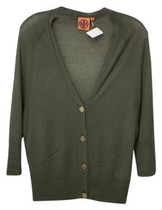 Tory Burch Logo Cashmere Sweater Cardigan
