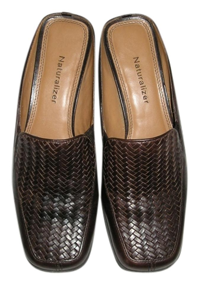 Naturalizer Dark Dark Naturalizer Brown Woven Leather Mules/Slides 74a17e