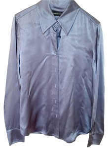 Dana Buchman Button Down Shirt Blue