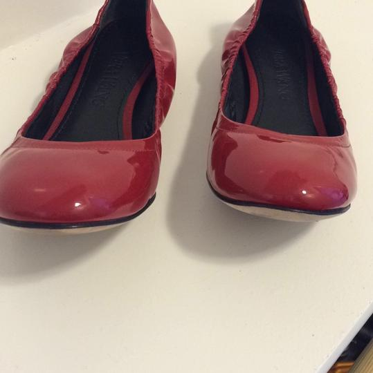 Vera Wang Patent Leather Red Flats Image 1