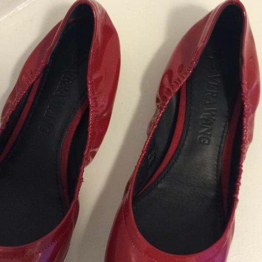 Vera Wang Patent Leather Red Flats Image 2
