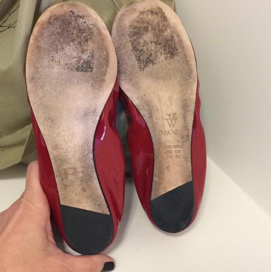 Vera Wang Patent Leather Red Flats Image 3