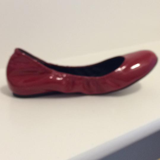 Vera Wang Patent Leather Red Flats Image 5