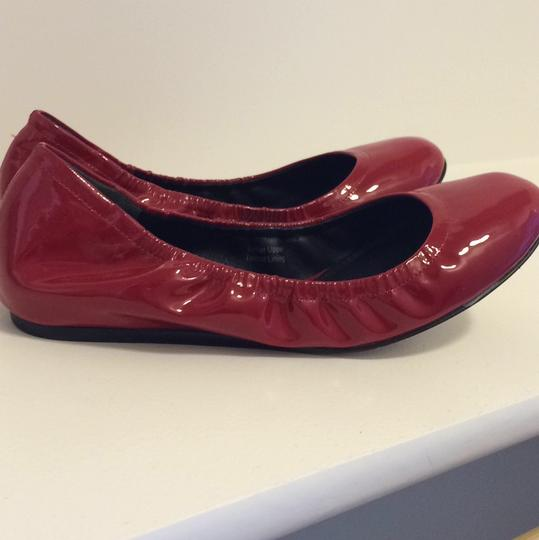 Vera Wang Patent Leather Red Flats Image 6