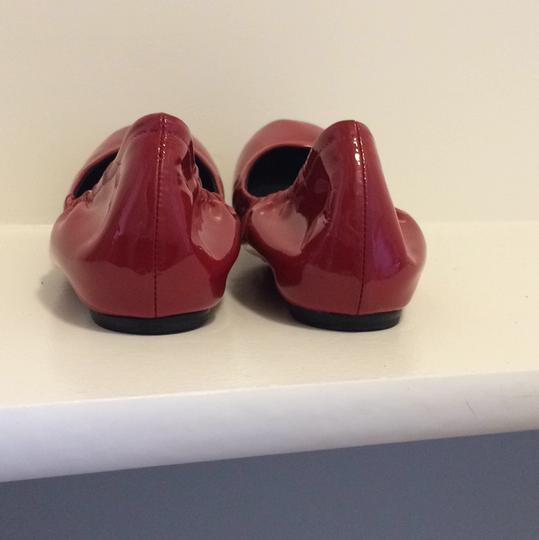 Vera Wang Patent Leather Red Flats Image 7