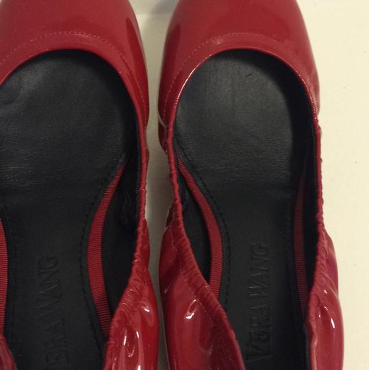 Vera Wang Patent Leather Red Flats Image 8