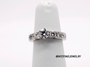 14k White Gold 1.0ct Diamonds Engagement Ring 5.0g Size 4