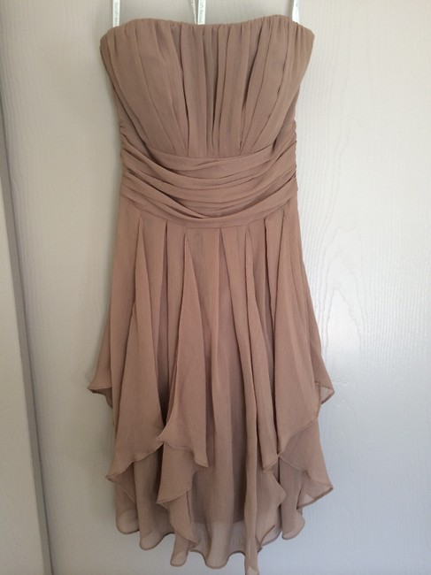 Item - Brown Polyester F14169 Formal Bridesmaid/Mob Dress Size 2 (XS)