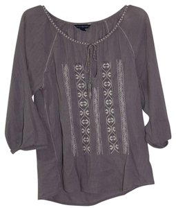 American Eagle Outfitters Top Gray