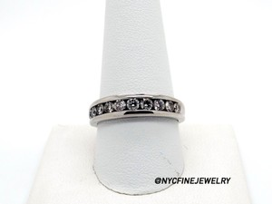 Beautiful 14k White Gold 0.8ct Diamond Wedding Band Ring Size 10.5