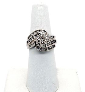 Other Beautiful 14k White Gold 1.25ct Diamonds Ring, 8.3 grams, Size 7