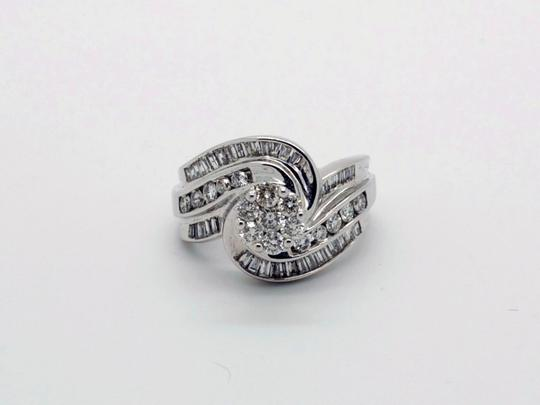 Other Beautiful 14k White Gold 1.25ct Diamonds Ring, 8.3 grams, Size 7 Image 1