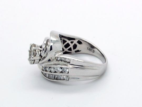 Other Beautiful 14k White Gold 1.25ct Diamonds Ring, 8.3 grams, Size 7 Image 2