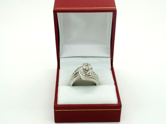 Other Beautiful 14k White Gold 1.25ct Diamonds Ring, 8.3 grams, Size 7 Image 4