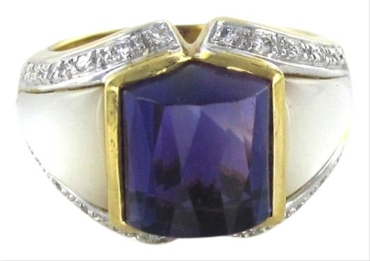Preload https://img-static.tradesy.com/item/808026/bella-gold-18kt-solid-karat-designer-amethyst-24-diamond-74-g-ring-0-0-540-540.jpg