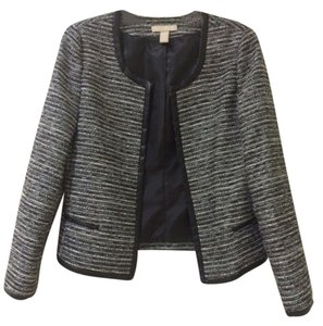 Banana Republic Jacket Evening Metallic Black/White Blazer