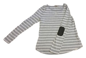 Gap Striped Elbow Patches Sweater