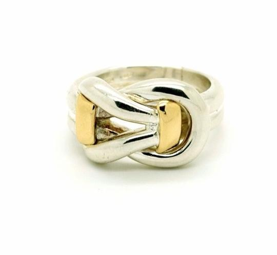 Other Sterling Silver 14K Yellow Gold Ring Two Tone, Size 9.00 Image 4