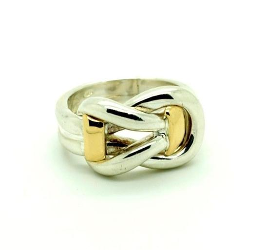 Other Sterling Silver 14K Yellow Gold Ring Two Tone, Size 9.00 Image 5