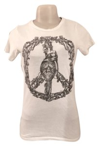 OBEY T Shirt White with black/grey graphics
