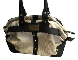 ALICE by Temperley Limited Edition Moet Duffle Tote Studded Tote Cream & Black Travel Bag