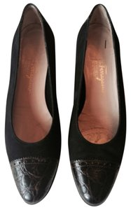 Salvatore Ferragamo Black and Brown Flats