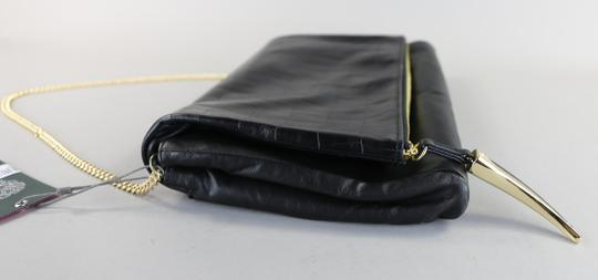 Vince Camuto Leather Chain Black Clutch Image 2
