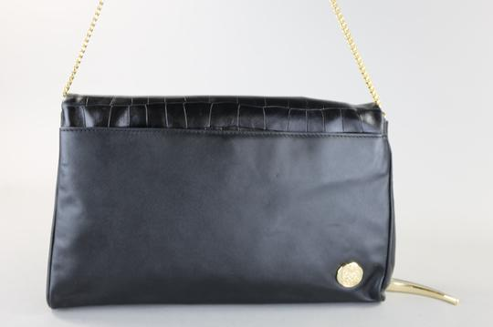 Vince Camuto Leather Chain Black Clutch Image 3