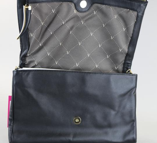 Vince Camuto Leather Chain Black Clutch Image 4