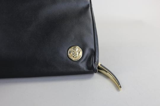 Vince Camuto Leather Chain Black Clutch Image 5