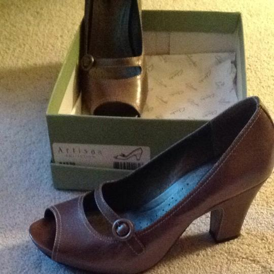 Clarks Grey Metallic Pumps Image 2