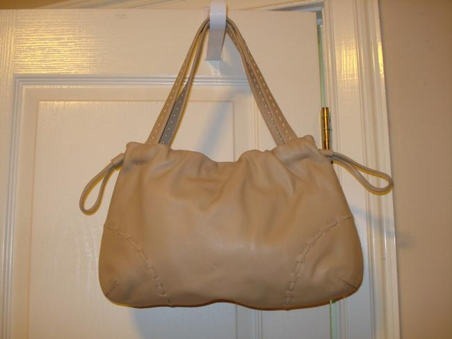 Item - Beige Bone Leather High Quality Hobo Bag