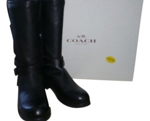 Coach Winter Fall Soft Leather Black Boots