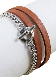 Marc by Marc Jacobs Marc By Marc Jacobs Leather & Chain Double Wrap Bracelet or Choker