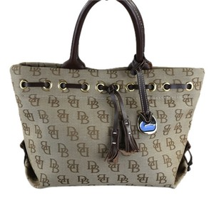 Dooney & Bourke Mini Tassel Dark Denim Satchel in Brown