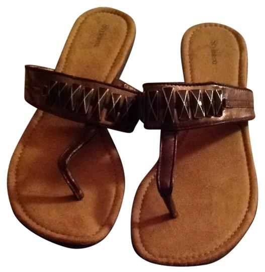 Preload https://img-static.tradesy.com/item/8083249/style-and-co-brown-metal-ornament-sandals-size-us-8-regular-m-b-0-5-540-540.jpg