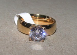 1ct Classic Wide Band Engagement Ring Free Shipping