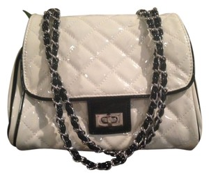Forever 21 Quilted Patent Quilted Chain Strap Chanel Purse Shoulder Bag