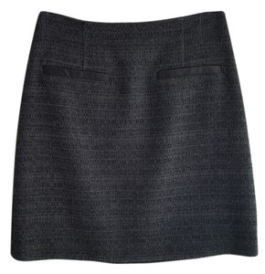 Theory Mini Skirt Charcoal Tweed