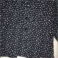 Capriccio Collar Professional Girly Cute Button Button Down Shirt Black and White Image 1