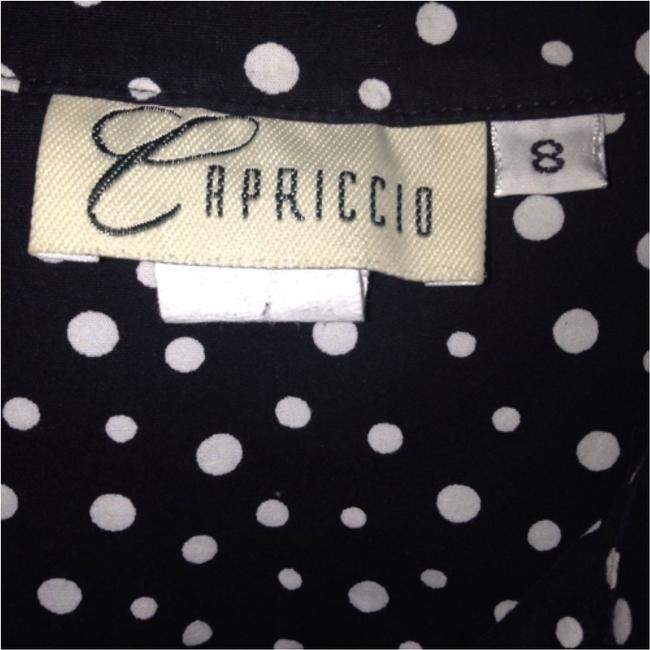 Capriccio Collar Professional Girly Cute Button Button Down Shirt Black and White Image 2
