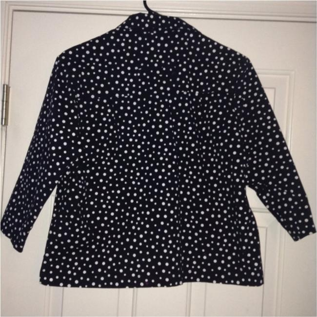 Capriccio Collar Professional Girly Cute Button Button Down Shirt Black and White Image 3