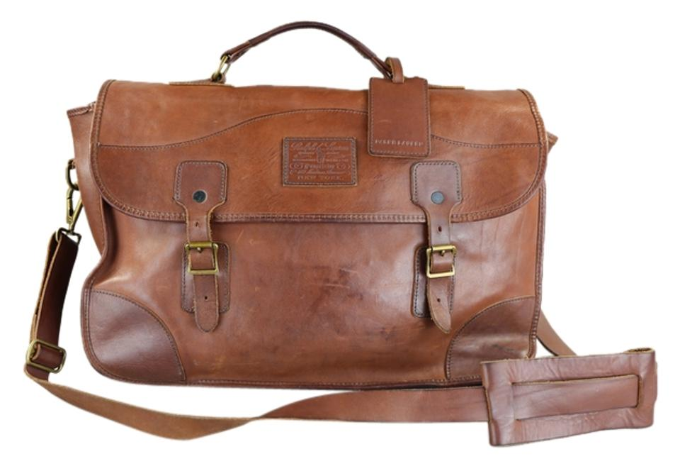 c08bff9f5a6f Ralph Lauren Pre-aged Brown Leather Messenger Bag - Tradesy
